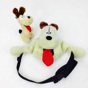 Vintage Retro Garfield Odie Fanny Pack and Plush